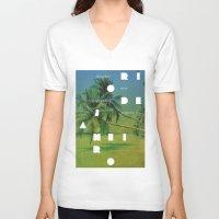 rio de janeiro V-neck T-shirts featuring Rio de Janeiro by Virbia