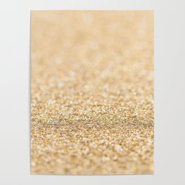 Beautiful champagne gold glitter sparkles Poster