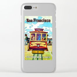 Vintage San Francisco Travel Poster - Circa 1950's Clear iPhone Case