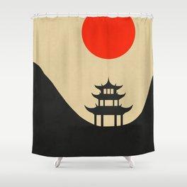 Eastern landscape Shower Curtain