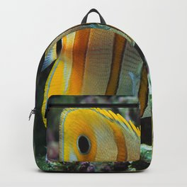 Yellow Longnose Butterfly Fish Backpack