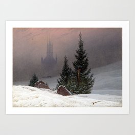 Caspar David Friedrich Winter Landscape Art Print