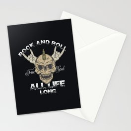 Rock and roll all life long. Stationery Cards