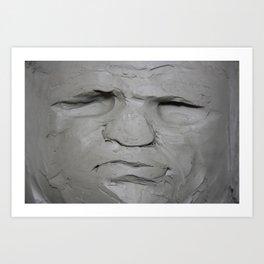 Splatter Clay Face Art Print