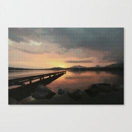 abendstimmung coastal evening Canvas Print