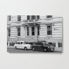 Black and White London Street Photography Metal Print