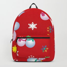 Snowflakes & Pair Snowman_D Backpack
