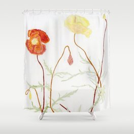 More fowers in my garden. Poppy. Shower Curtain