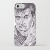 david tennant iPhone & iPod Cases featuring David Tennant as Doctor Who by Kate Murray
