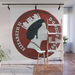 Queen Elizabeth -5 pence - The Queens Mint Series Wall Mural