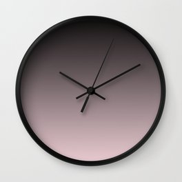 Black, pink - gray Ombre. Wall Clock