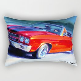 1970 Chevelle SS car Rectangular Pillow