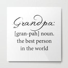 grandpa Metal Print
