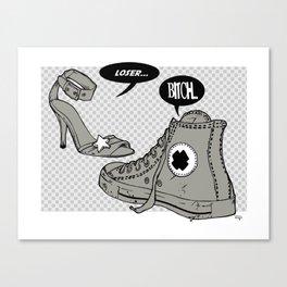 Talking Shoes  Canvas Print