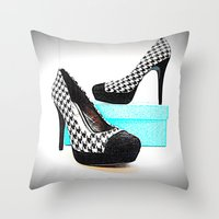 shoe Throw Pillows featuring Shoe Lust by 2sweet4words Designs