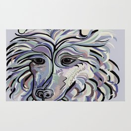 Collie in Denim Colors Rug
