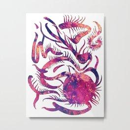 Purple Pink Abstract Life Plant Metal Print
