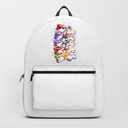 Lumbar Vertebrae Colorful Watercolor Backpack