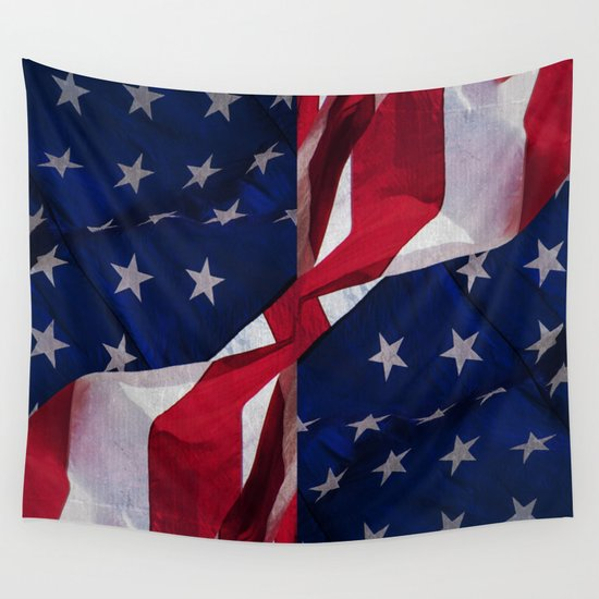 RED, WHITE AND BLUE Wall Tapestry
