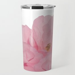 Pink Camelia Rose Travel Mug