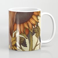 autumn Mugs featuring Autumn by Kate O'Hara Illustration