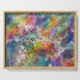 PAINT STAINED ABSTRACT Serving Tray