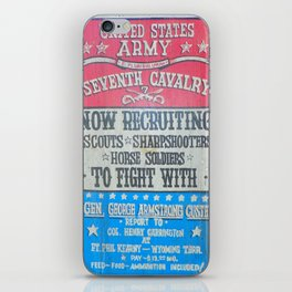 Seventh Cavalry Recruiting Sign iPhone Skin
