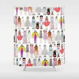Outfits of Bjork Fashion Shower Curtain