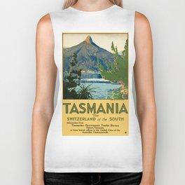 Vintage poster - Tasmania Biker Tank