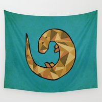 otter Wall Tapestries featuring Otter by Jackie Wyant