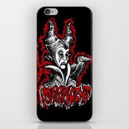 Black Metal Maleficent iPhone Skin