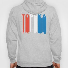 Red White And Blue Topeka Kansas Skyline Hoody