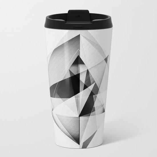 Geometric Metal Travel Mug