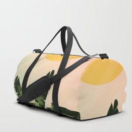 Sunny heliconia Duffle Bag