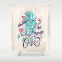 summer Shower Curtains featuring Summer by Ariana Perez