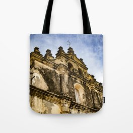 View of the Top of the Catholic Church Iglesia La Merced, Granada, Nicaragua Tote Bag