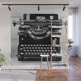 Vintage Typewriter Wall Mural