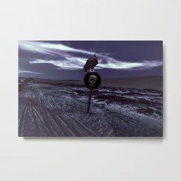 Death Road Dark Scene Metal Print
