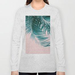 Palm Leaves Summer Vibes #1 #tropical #decor #art #society6 Long Sleeve T-shirt