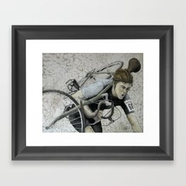 Carrying Vintage Bicycle Framed Art Print