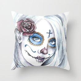 La Bella Muerte  Throw Pillow