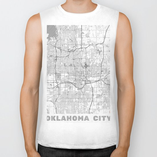 Oklahoma City Map Line Biker Tank