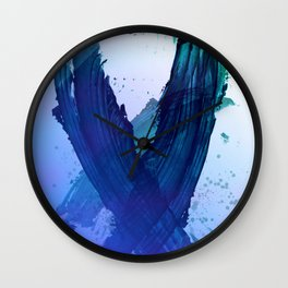 Atmospheric Blue Wings Wall Clock