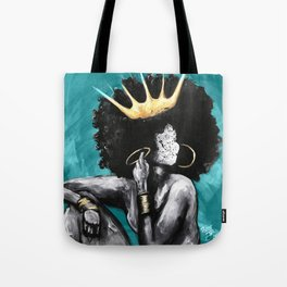 Naturally Queen VI  TEAL Tote Bag