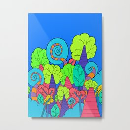 The Wacky Forest Metal Print