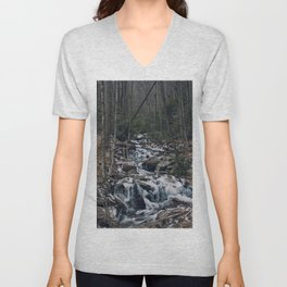 Frozen Stream From Mountain High Unisex V-Neck