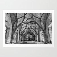 Prague Vladislav Hall Art Print