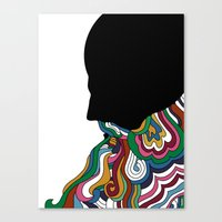 beard Canvas Prints featuring Beard by Paco de Nadie