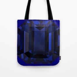 September Babies deed Blue Sapphire Birthstone Design Tote Bag