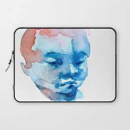 Blue and Red Portrait Laptop Sleeve